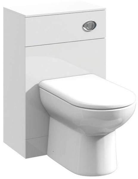 Italia Furniture Back To Wall WC Unit (766x500x300mm, White).