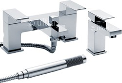 Ultra Prospa Basin & Bath Shower Mixer Tap Set (Free Shower Kit).