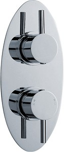 Ultra Quest Twin Concealed Thermostatic Shower Valve (Chrome).