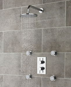 Ultra Quest Quest Thermostatic Shower Valve, Head, Arm & Body Jets.