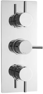 Ultra Quest Thermostatic Triple Concealed Shower Valve With Diverter.