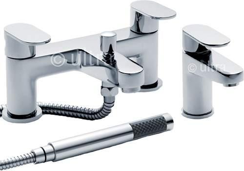 Ultra Ratio Basin & Bath Shower Mixer Tap Set (Free Shower Kit).