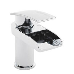 Hudson Reed Rhyme Waterfall Basin Mixer Tap (Chrome).