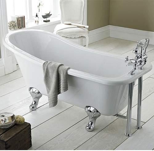 Hudson Reed Baths Brockley Slipper Bath 1700x730mm.