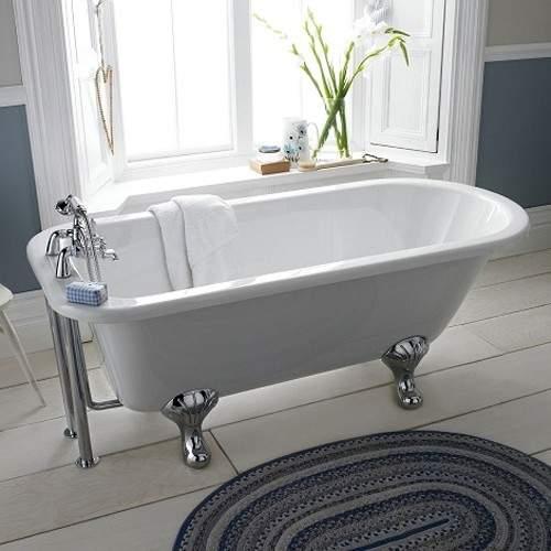 Hudson Reed Baths Barnsbury Single Ended Freestanding Roll Top Bath 1700x750mm.