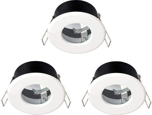 Hudson Reed Lighting 3 x Shower Spot Lights & Cool White LED Lamps (White).