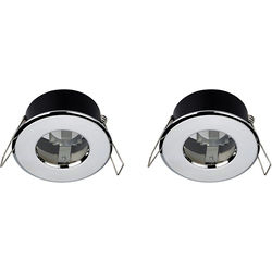 Hudson Reed Lighting 2 x Shower Spot Lights & Cool White LED Lamps (Chrome).