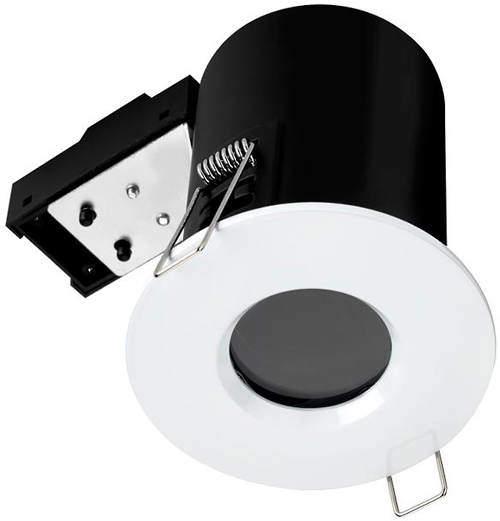 Hudson Reed Lighting 1 x Fire & Acoustic Spot Light & C White LED Lamp (White).