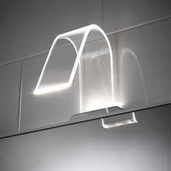 Curved Led Over Mirror Light Only Warm White Hudson Reed
