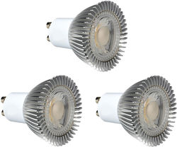 Hudson Reed LED Lamps 3 x GU10 5W Dimmable COB LED Lamps (Cool White).
