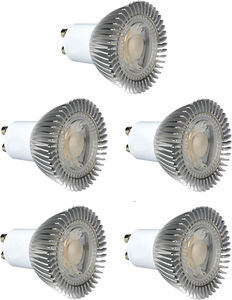 Hudson Reed LED Lamps 5 x GU10 5W Dimmable COB LED Lamps (Cool White).