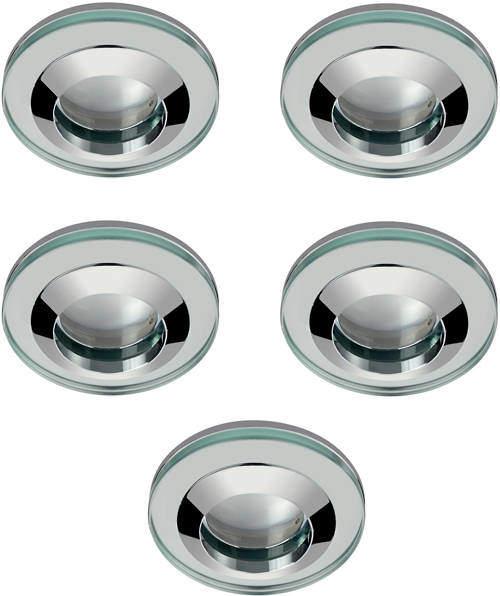 Hudson Reed Lighting 5 x Round Shower Light Fitting (240v, Glass & Chrome).