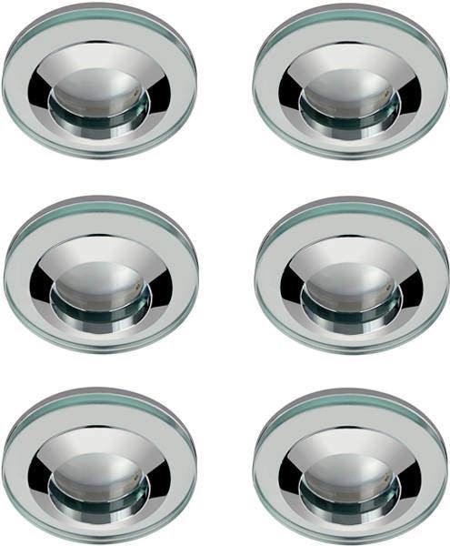 Hudson Reed Lighting 6 x Round Shower Light Fitting (240v, Glass & Chrome).