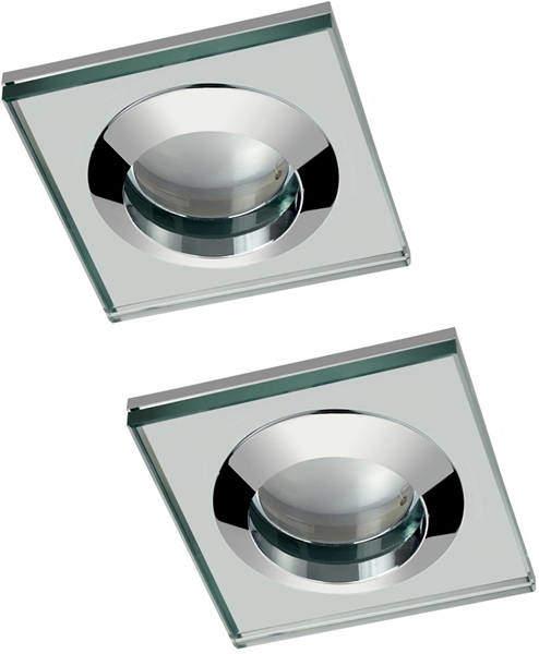 Hudson Reed Lighting 2 x Spot Light & Cool White LED Lamps (Glass & Chrome).