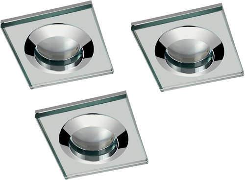 Hudson Reed Lighting 3 x Spot Light & Warm White LED Lamp (Glass & Chrome)