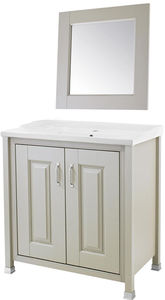 Old London Furniture 800mm Vanity & 600mm Mirror Pack (Stone Grey).