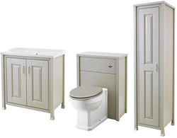 Old London Furniture 800mm Vanity, 600mm WC & Tall Unit (Stone Grey).