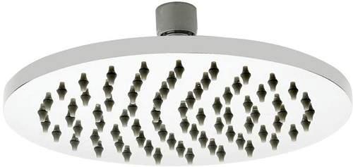 Premier Showers Round Shower Head (200mm, Stainless Steel).