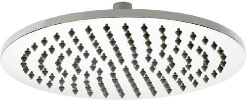 Premier Showers Round Shower Head (300mm, Stainless Steel).
