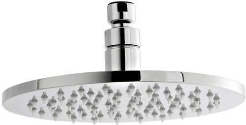 Premier Showers LED Round Shower Head (200mm, Chrome).