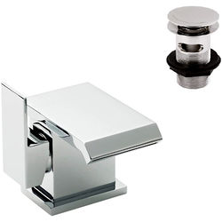 Ultra Mini Side Action Waterfall Basin Mixer Tap (Chrome).