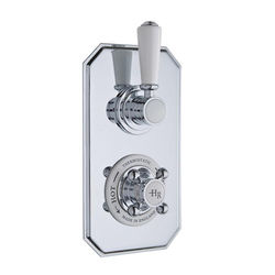 Hudson Reed Topaz Thermostatic Shower Valve With White Handle (1 Way).