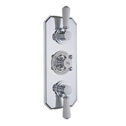Hudson Reed Topaz Thermostatic Shower Valve With White Handles (2 Way).
