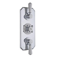 Hudson Reed Topaz Thermostatic Shower Valve With White Handles (3 Way).