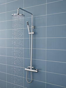 Ultra Showers Minimalist Thermostatic Bar Shower Valve & Telescopic Riser Kit.