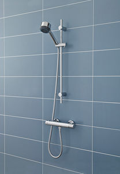 Ultra Showers TMV2 Thermostatic Bar Shower Valve & Slide Rail Kit.