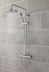 Ultra Showers Slimline Thermostatic Bar Shower Valve & Telescopic Riser Kit.