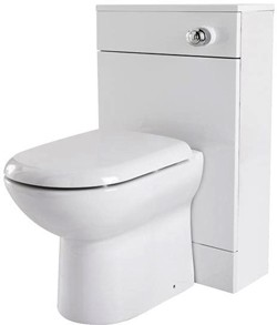 Premier Eden Back To Wall WC Unit With Pan, Cistern & Seat (White). 500x800mm.