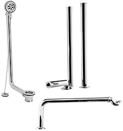 Crown Series P Roll Top Bath Pack In Chrome.