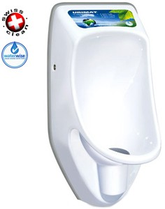 Waterless Urinal 2 x Compact Plus Urinal, Trap & ActiveCube (Polycarbonate).