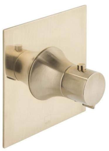 Vado Altitude Concealed Thermostatic Shower Valve (Brushed Gold).