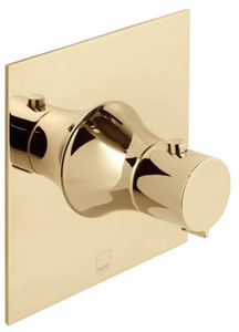 Vado Altitude Concealed Thermostatic Shower Valve (Polished Gold).