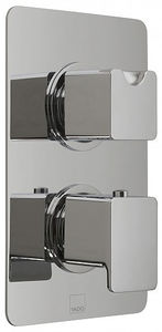 Vado Phase Thermostatic Shower Valve With 2 Handles (1 Outlet, TMV2).