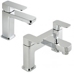 Vado Phase Basin Mixer & Bath Shower Mixer Tap Pack (Chrome).