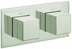 """Vado Notion Thermostatic Shower Valve With 1 Outlet (3/4"""" Brushed Nickel)."""