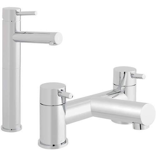 Vado Zoo Extended Basin & Bath Filler Tap Pack (Chrome).