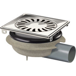 VDB Shower Drains ABS Shower Drain 150x150mm (Stainless Steel Grate).