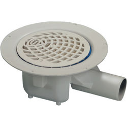 VDB Vinyl Drains Shower Drain With 50mm Horizontal Outlet (150mm, PEH).