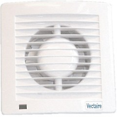 Vectaire Slim Line Axial Standard Extractor Fan. 100mm (White).