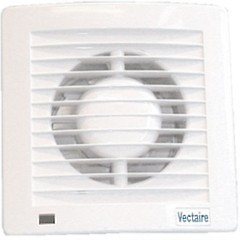 Vectaire Slim Line Axial Extractor Fan, Humidistat & Timer. 100mm (White).
