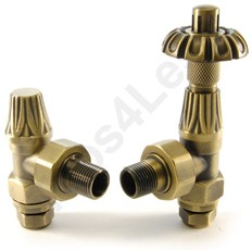Crown Radiator Valves Thermostatic Angled Radiator Valves (O Brass).
