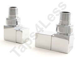 Crown Radiator Valves Cubex Corner Radiator Valves (Chrome).