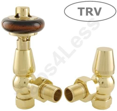 Crown Radiator Valves Thermostatic Angled Radiator Valves (Brass).