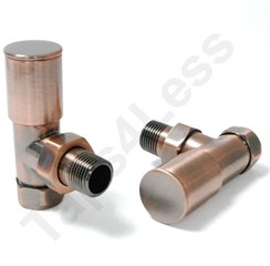 Crown Radiator Valves Milan Angled Radiator Valves (Antique Copper).