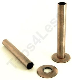 Crown Radiator Valves Sleeve Kit For Radiator Pipes (130mm, A Copper).