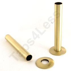 Crown Radiator Valves Sleeve Kit For Radiator Pipes (130mm, Brass).